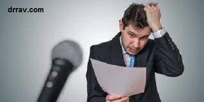 نشانه های ترس از سخنرانی